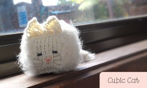 Cubic Cat white Persian cat