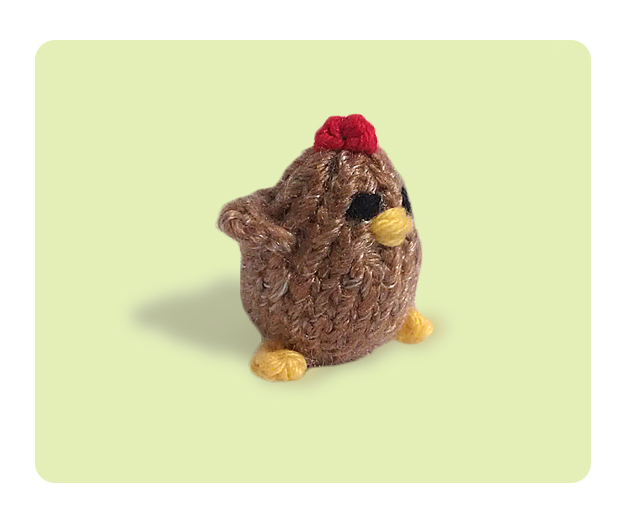 Knitting Patterns Toy Chicken : Tiny Chickens - Free Cute Knitting Patterns How to Knit Tutorials