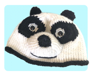 Cute Kungfu Panda Inspired beanie hat, free patterns
