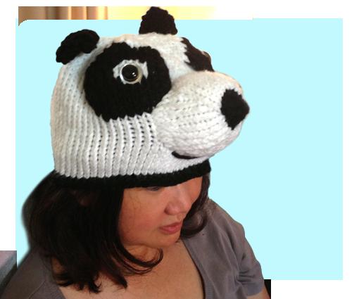 Free Kungfu Panda Inspired Hat Knitting Pattern With Video Tutorials