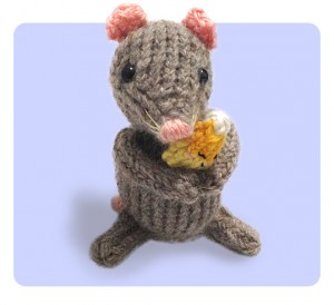 Mouse &amp; Candy Corn Halloween free knitting pattern