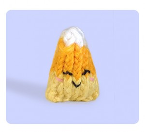 Cute free candy corn knitting pattern