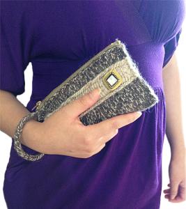 Easy Elegant Women handbag free knitting patterns
