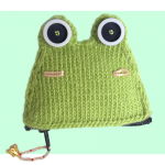 Frog Kero Keroppi Inspired coin purse free knitting patterns