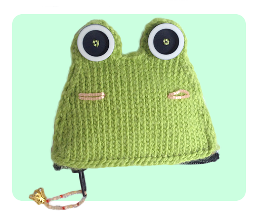 Frog Knitting Patterns : Free Frog Coin Purse Knitting Patterns, Video Tutorials included!