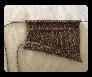 Women Handbag Knitting progression row 43