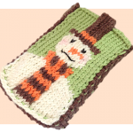 Free cute knitting patterns Snowman mobile phone case cover