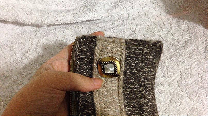 Sew main body shut, care not to sew the fabric lining