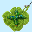 Four Leaf Clover Mobile Phone Charm