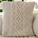 Cabled Warm Blanket &amp; Pillow