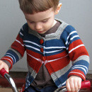 F488 Baby and Toddler Striped Cardigan